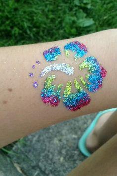 Glitter tattoo designs