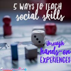 5 Ways to Teach Social Skills Through Hands-On Experiences Guest Post by Creative Speech Lab - The Speech Bubble. Pinned by SOS Inc. Resources. Follow all our boards at pinterest.com/sostherapy/ for therapy resources.