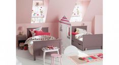 Living with littles? Clever kids' rooms that don't scrimp on style Baby Bedroom, Girls Bedroom, Childrens Bedroom, Bedroom Ideas, Shared Rooms, Apartment Interior, Kids Furniture, Toddler Bed, Home Decor