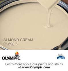 ALMOND CREAM OL690.3 is a part of the beiges collection by Olympic® Paint. @olympicfinishes for guest bedroom makeover. @lowes @olympicfinishes @sugarandcharm