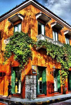 Esta es una casa en Cartagena, Colombia.
