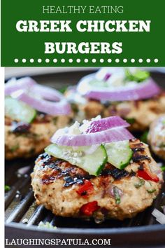 These super fast and fresh burgers are full stuffed with all the Greek flavors we love! Easy to make and healthy! greekburger chickenburger turkeyburger healthyburger easyburger groundchicken groundturkey via 371828512984965405 Burger Recipes, Gourmet Recipes, Cooking Recipes, Healthy Recipes, Cheap Recipes, Healthy Foods, Healthy Sauces, Cooking Rice, Fast Recipes