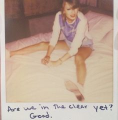 Taylor Swift Polaroid 58 - Out Of The Woods #1989