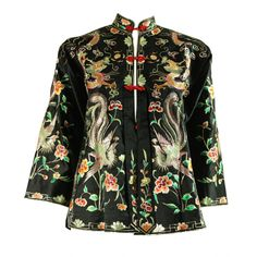 1940's Chinese Embroidered Satin Jacket