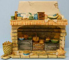 Border Fine Arts Brambly Hedge Mouse Mice Fireplace BH8 Jill ...