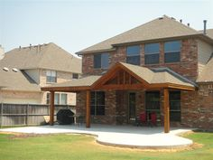 Shed with Gable Roof Patio Cover Plans | Shed With Gable Patio Covers | Full Gable Patio Covers | Hip and Ridge ...