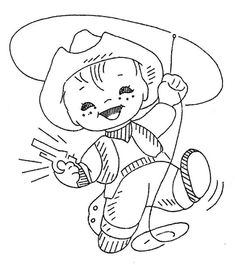 vintage cowboy embroidery patterns | share
