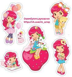 детские, девочки, высечки Printable Labels, Printable Stickers, Planner Stickers, Printables, Strawberry Shortcake Cartoon, Scrapbook Paper, Scrapbooking, Birthday Bag, Love Stickers