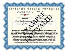 Lifetime Warranty Hail Repairs
