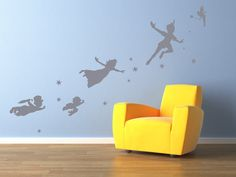 Peter Pan wall decal sticker fantasy by Quirkyworks33