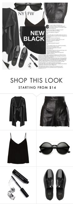 """""""Insider vol. 19"""" by loreense ❤ liked on Polyvore featuring Moschino, Raey, ZeroUV, Bobbi Brown Cosmetics, FitFlop, totalblackout and loreensedaily"""