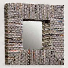 Riciclo carta di giornale - Specchio