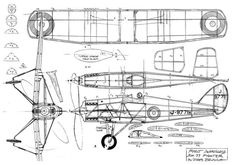 The de havilland dh-77 - bruning is one of the model airplane plans available for download and printing.