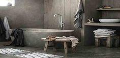 Μοναδικό μπάνιο με πατητή τσιμεντοκονία