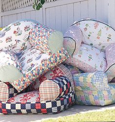What fun can be had making one... or many... of these little easy chairs for the…