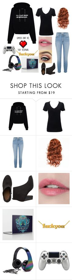 """""""Untitled #110"""" by anyacooper ❤ liked on Polyvore featuring Simplex Apparel, Paige Denim, Forever 21, Minecraft and Sony"""