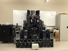 Made an IT throne today at work.