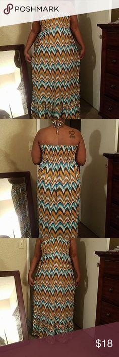 Selling this Long maxi dress - runs big on Poshmark! My username is: ngrigler. #shopmycloset #poshmark #fashion #shopping #style #forsale #Dresses & Skirts
