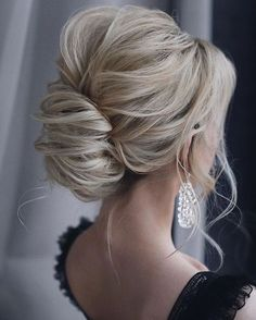44 Trendy Updos for Medium Length Hair and Long Hair - KOEES Q&A- frisuren haare hair hair long hair short Updos For Medium Length Hair, Medium Hair Styles, Curly Hair Styles, Hair Medium, Updo Curly, Messy Updo, Braided Ponytail, Medium Long, Trending Hairstyles