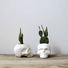 Ceramic Skull Planter - Skullspiration.com - skull designs, art, fashion and more