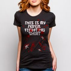 ShopGoodie.com - Girls Ninja Fighting Shirt, $21.95 (http://shopgoodie.com/girls-ninja-fighting-shirt/)  #ninja #ninjafighting