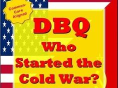 This 8-page, common-core aligned DBQ will help students analyze the causes of the Cold War. Students will analyze several primary sources including famous speeches, political cartoons, maps and charts. Using evidence from the primary sources, students will then be asked to write a 5-paragraph-essay. Print and Google Docs included!  A shorter version is also available where students will write only a paragraph. Sentence frames are included to help struggling writers.  Primary Sources…