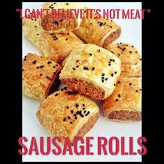 """""""I Can't Believe it's Not Meat"""" – Sausage Rolls (Thermomix Method Included) « Mother Hubbard's Cupboard Vegetarian Recipes, Cooking Recipes, Sausage Rolls, Muffin, Lunch Box, Bread, Canning, Cupboard, Breakfast"""