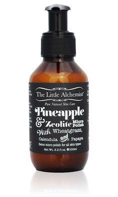 The Little Alchemist | PINEAPPLE & ZEOLITE MICRO POLISH | Natural Detox Micro Polish | I Am Natural Store | Official Australian Stockist