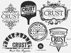 Vale Design - logo exploration, Crust Pizzeria