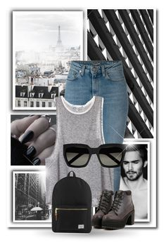 """""""Untitled #1620"""" by nybabe96 ❤ liked on Polyvore featuring Yves Saint Laurent and Herschel Supply Co."""