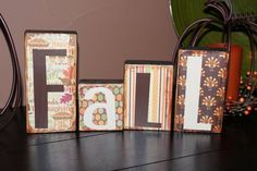 FALL Home Decor Wooden Block Sign by HannaBananasBoutique on Etsy, $8.00