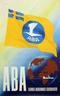 ABA - AB Aerotransport Poster by Olle Svensson - 1947