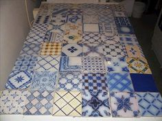 Lot carreau ancien faience desvres carrelage carreaux 1 for Carrelage desvres