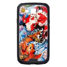 Cool oriental japanese Koi Fish lotus water tattoo Samsung Galaxy S3 Cases #smartphone #samsung #galaxy #galaxys3 #case #cover #skinit #oriental #japanese #japan #gift #customizable #smartphonecases
