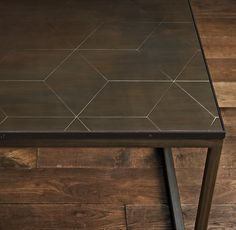 Rh S Metal Parquet Side Table We 39 Ve Adapted Geometric Patterns Originating More