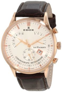 Edox Men's  01505 37R AIR Chronograph Retrograde Les Vauberts Watch Edox. $1250.00. Stainless steel (pad) case; silver dial. Chronograph retrograde watch. Water-resistant to 165 feet (50 M). Case diameter: 41. Scratch resistant sapphire crystal protects watch