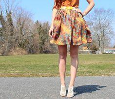 DIY: gathered high waist skirt