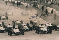 Racing Heritage Autographs South African racing driver Neville Lederle autographed image 1965 Lotus 21  Price $35