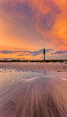 Oak Island Lighthouse Sunset by: Nathan Firebaugh  Prints available at www.nfirebaughphoto.com