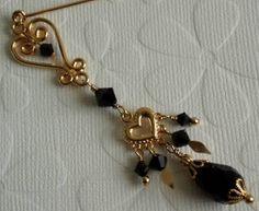 Hearts Dangling by a Thread Hijab Pin/Hat Pin