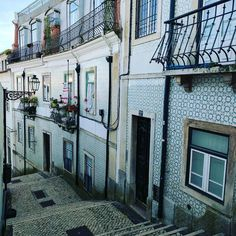 Lisbon is teeming with thousands of colorful tiled buildings it's stunning. #bigfatworldportugal #portugal #lisboa #lisbon #tiles