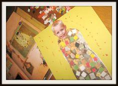 Teach kids about the great artist Gustav Klimt, and help them make a Klimt-inspired self portrait!