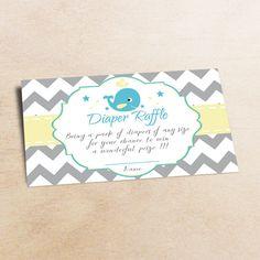 Whale diaper raffle diaper raffle baby shower от LittlePartyPaper