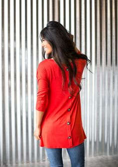 Button Back Pocket Tunic! Over 30 Colors {Jane Deals}