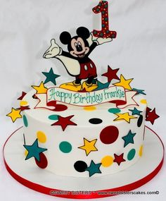 Mickey's 1st Birthday! #dessert #cakes #birthdaycake #1stbirthday #mickeymouse #mickey #disney #stars #SweetSisters
