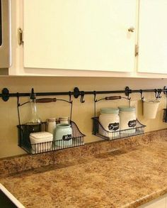 Small kitchen organization ideas like this one…love this idea. coffee st… Small kitchen organization ideas like this one…love this idea. coffee stations counter space 10 Ideas For Organizing a Small Kitchen- A Cultivated Nest Small Kitchen Organization, Diy Kitchen Storage, Smart Kitchen, Kitchen Small, Awesome Kitchen, Storage Organization, Storage Hacks, Bathroom Organization, Organizing Ideas
