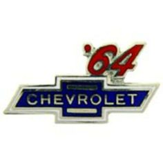 """Chevrolet '64 Logo Pin 1"""" by FindingKing. $8.99. This is a new Chevrolet '64 Logo Pin 1"""""""