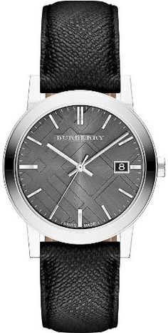 Men's Wrist Watches - Burberry Grey Dial Black Polyvinl Mens Watch BU9030 * Continue to the product at the image link.
