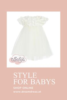 Traumkleid für Babys! Jetzt online bei Dreamdress erhältlich!! #babykleid, #traumkleid, #Sofija, #babymode Girls Dresses, Flower Girl Dresses, Babys, Party Dress, Tulle, Bridal, Wedding Dresses, Skirts, Fashion