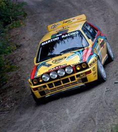 A taste of Racing Lancia Delta, Vintage Racing, Vintage Cars, Sport Cars, Race Cars, Rallye Wrc, Course Automobile, Martini Racing, Rally Car